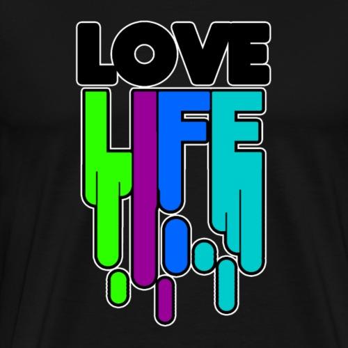 Love Life T Shirt Design Schriftzug Optimist Glück - Männer Premium T-Shirt