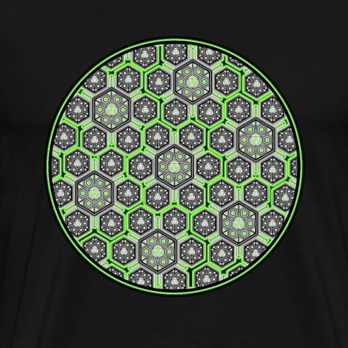 DMT T-Shirt Psychedelisch Trippy Fraktal Goa Party - Männer Premium T-Shirt