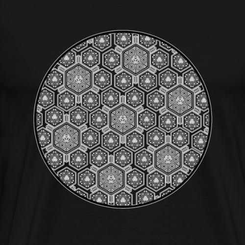 Goa T-Shirt Psychedelisches Muster LSD DMT MDMA - Männer Premium T-Shirt