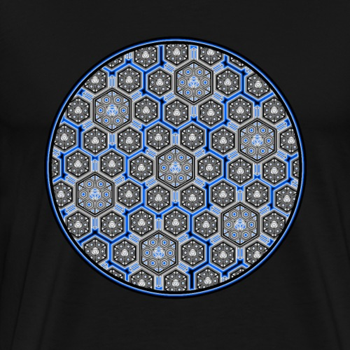 LSD T-Shirt Psychedelisch Trippy Fraktal Goa Party - Männer Premium T-Shirt