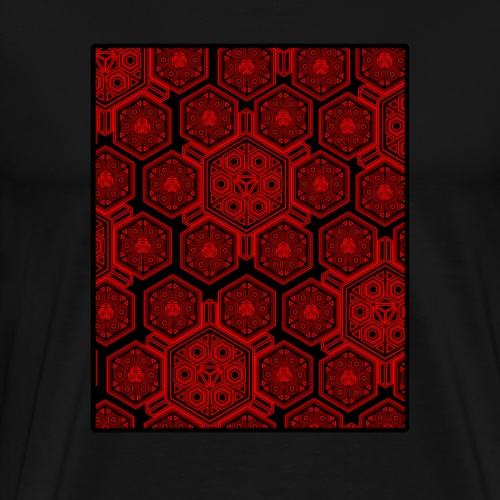 Psy T-Shirt - Heilige Geometrie Muster - Goa Party - Männer Premium T-Shirt