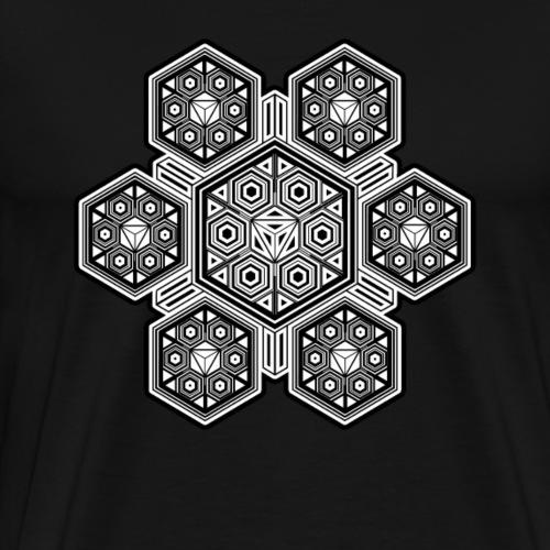 LSD T-Shirt - Heilige Geometrie Muster - Goa Party - Männer Premium T-Shirt