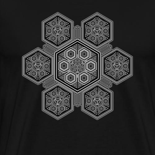 Muster Shirt Psychedelisch Trippy Fraktal LSD Goa - Männer Premium T-Shirt