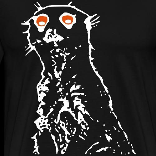 Erdmännchen / Erdweibchen / mit Augen - Männer Premium T-Shirt