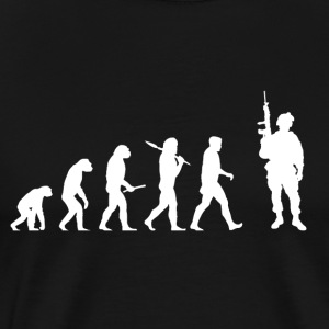 Evolution Soldier! Soldier! Warrior! Warriors! hær - Premium T-skjorte for menn