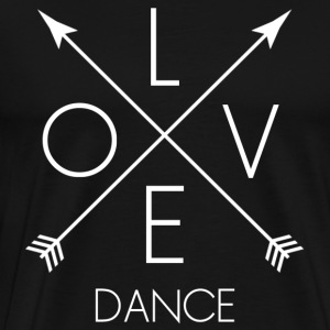 LOVE Dance white - Männer Premium T-Shirt