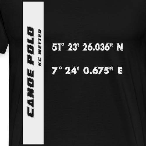 Kanupolo Wetter/Ruhr weiss - Männer Premium T-Shirt
