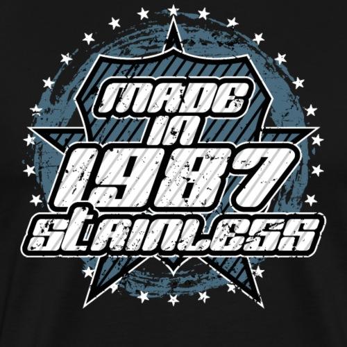 1987 Retro Geburtstag - Männer Premium T-Shirt