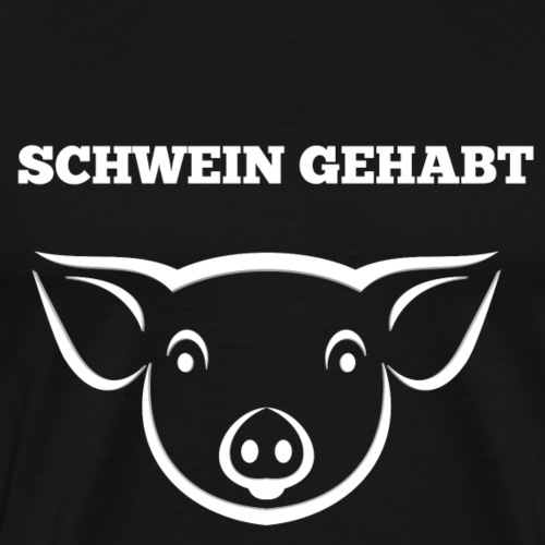 Schwein sau glück lustig fun tier - Männer Premium T-Shirt