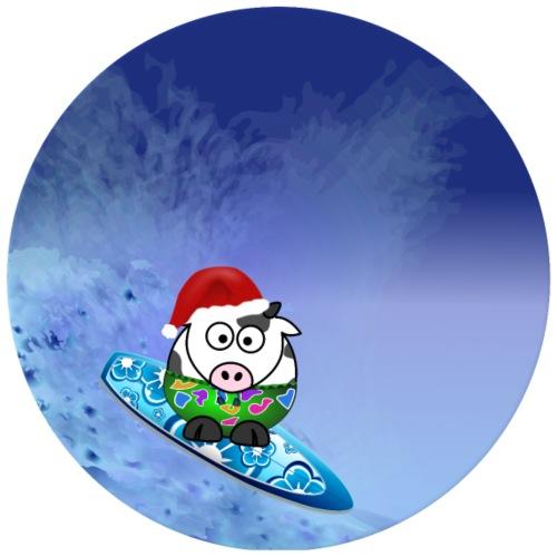 Weihnachtliche Surfer Kuh - Männer Premium T-Shirt