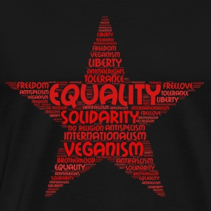 veganism word cloud 2 - Men's Premium T-Shirt