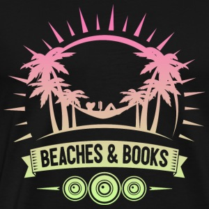 Retro Beach Reading - Herre premium T-shirt