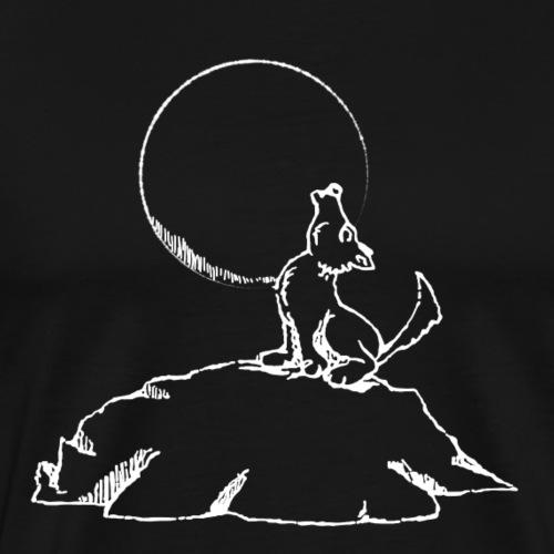 Wolf heut Mond an - weiss