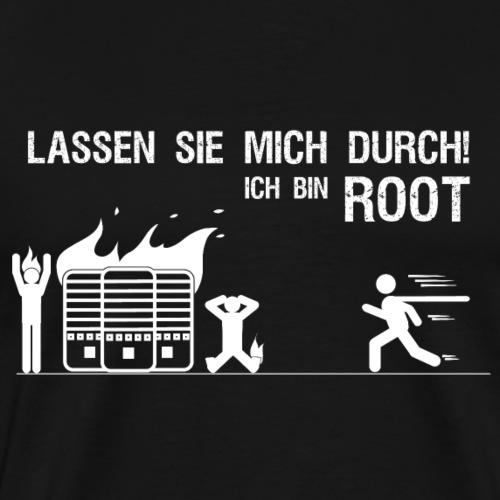 Lassen sie mich durch ich bin root Admin Geschenk - Männer Premium T-Shirt