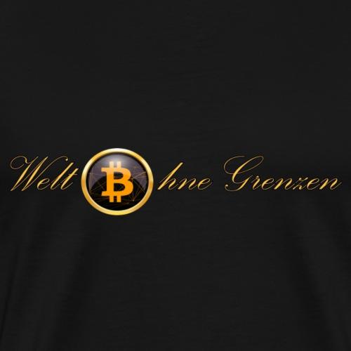 Bitcoin - Welt ohne Grenzen - Männer Premium T-Shirt