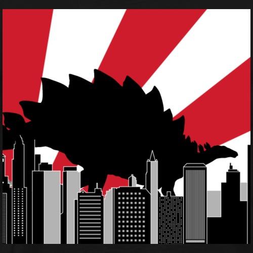 Stegosaurus Tokio Japan Stadt Dinosaurier - Männer Premium T-Shirt