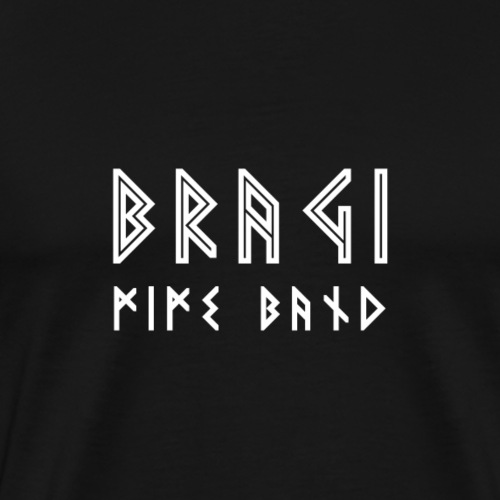 Bragi Text Simple White - Herre premium T-shirt