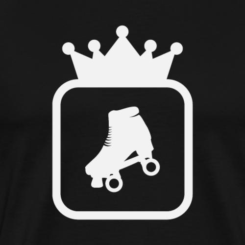 Speedskater Skating Krone - Männer Premium T-Shirt