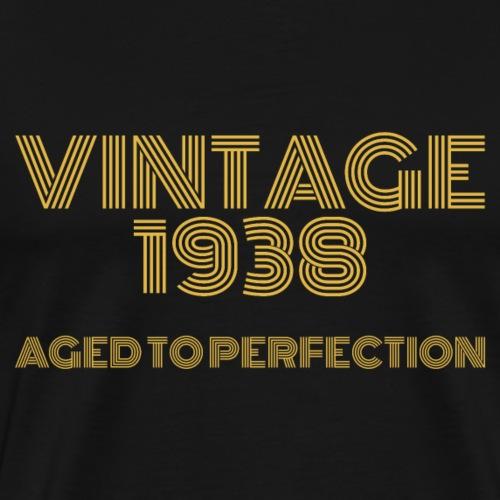 Vintage Pop Art 1938 Birthday. Aged to perfection. - Men's Premium T-Shirt