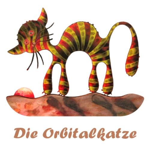 Orbitalkatze Motiv 2 Schrift - hell - Männer Premium T-Shirt