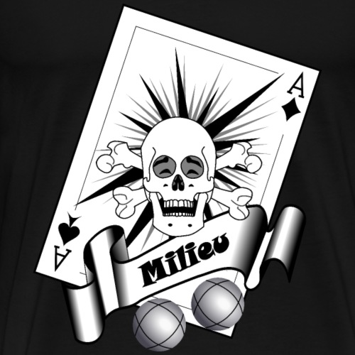 t shirt petanque milieu crane rieur as pointe tir - T-shirt Premium Homme
