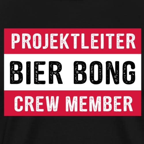 Projektleiter Bier Bong Crew Member Mallorca Party - Männer Premium T-Shirt