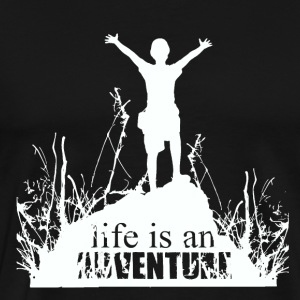 Life is an adventure - love for nature - Men's Premium T-Shirt