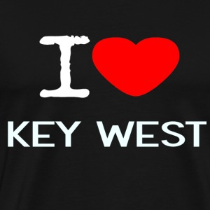 I LOVE KEY WEST - Premium T-skjorte for menn