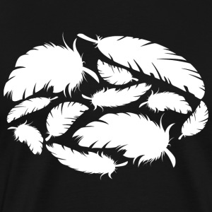 plumes blanches - T-shirt Premium Homme