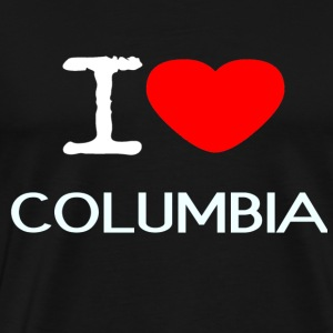 I LOVE COLUMBIA - Men's Premium T-Shirt