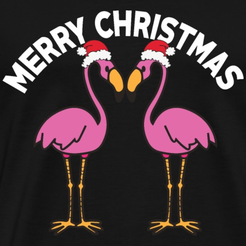 Flamingo - Muetze - Geschenk - Frohe Weihnachten - Männer Premium T-Shirt