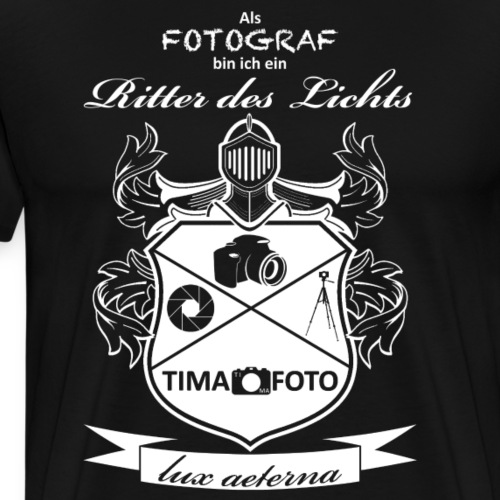 Ritter des Lichts - Männer Premium T-Shirt