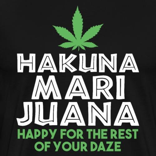 HAKUNA MARI-JUNA Happy Daze - Männer Premium T-Shirt