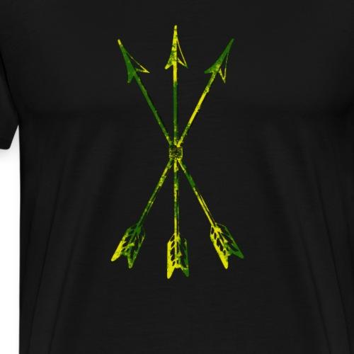 Scoia tael Emblem gruengelb - Männer Premium T-Shirt