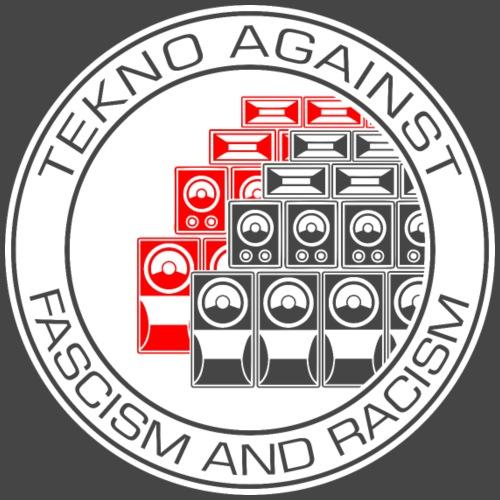 Tekno contra el fascismo y el racismo - Camiseta premium hombre