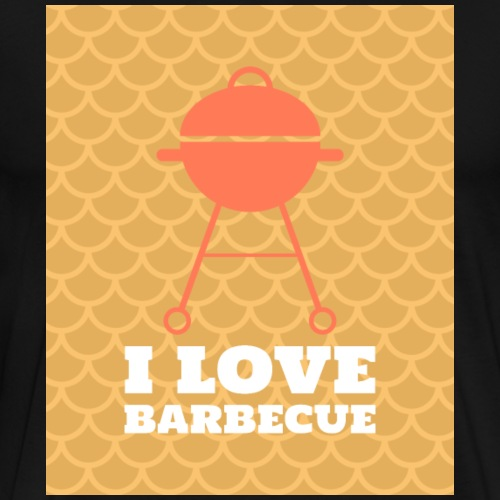 I love barbecue - Männer Premium T-Shirt