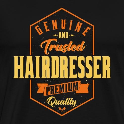 Genuine and trusted Hairdresser - Männer Premium T-Shirt