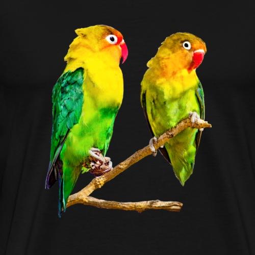 kanarienvögel gelb grün - Männer Premium T-Shirt