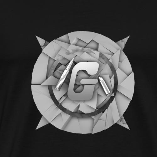 Gr4fiX Logo weiß - Männer Premium T-Shirt