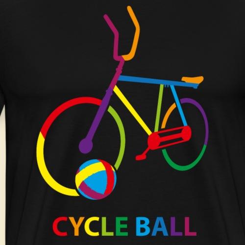 Radball | Cycle Ball Rainbow - Männer Premium T-Shirt