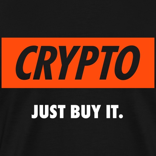 Crypto - Just buy it | White - Men's Premium T-Shirt