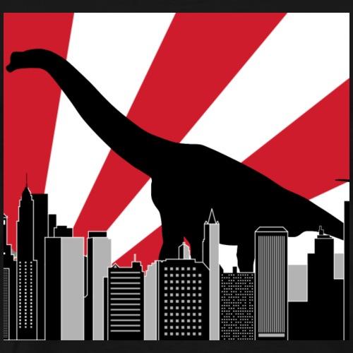 Brachiosaurus Tokio Japan Dinosaurier in der Stadt - Männer Premium T-Shirt
