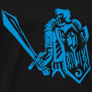 Guerrier Humain Chevalier Paladin RPG Réservoir Fantaisie - T-shirt Premium Homme