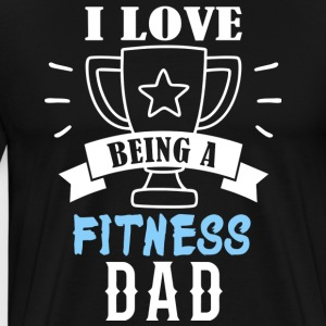 Fitness father Dad - Men's Premium T-Shirt