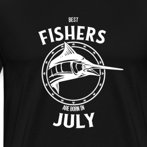 Present for fishers born in July - Men's Premium T-Shirt