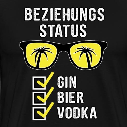 Mallorca Shirt Beziehungsstatus Gin Bier Vodka - Männer Premium T-Shirt