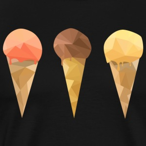 Low Poly Icecream - Men's Premium T-Shirt
