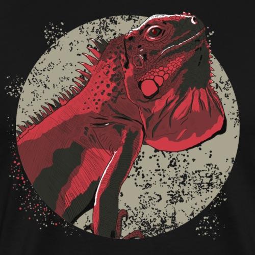 Leguan in rot - Männer Premium T-Shirt