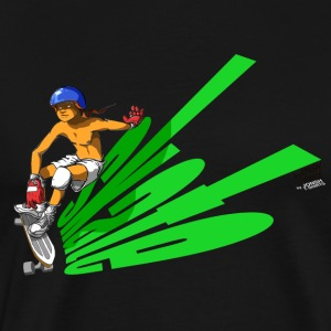 skate_green - Men's Premium T-Shirt