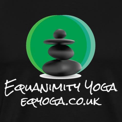Equanimity Yoga Logo White text - Men's Premium T-Shirt